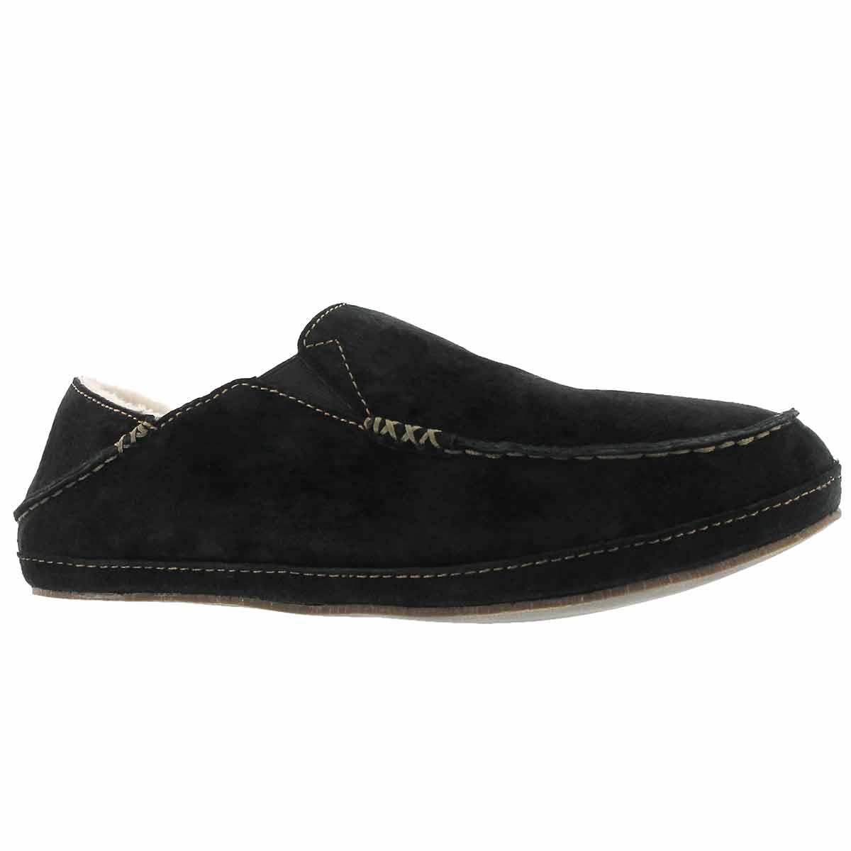 Men's MOLOA black drop in heel slippers
