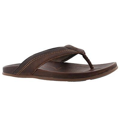 OluKai Men's MOHALU teak thong sandals
