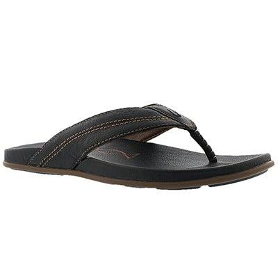 OluKai Men's MOHALU black thong sandals