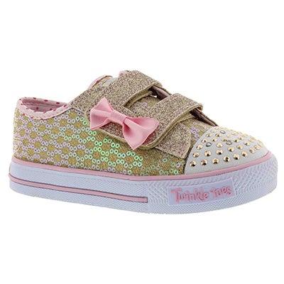 Inf Sweet Steps gld/pnk sneaker