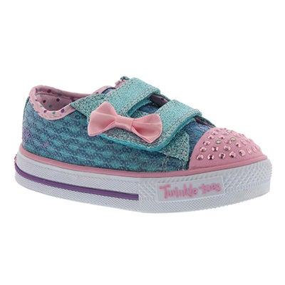 Skechers Espadrille turquoise/rose SWEET STEPS, bébés