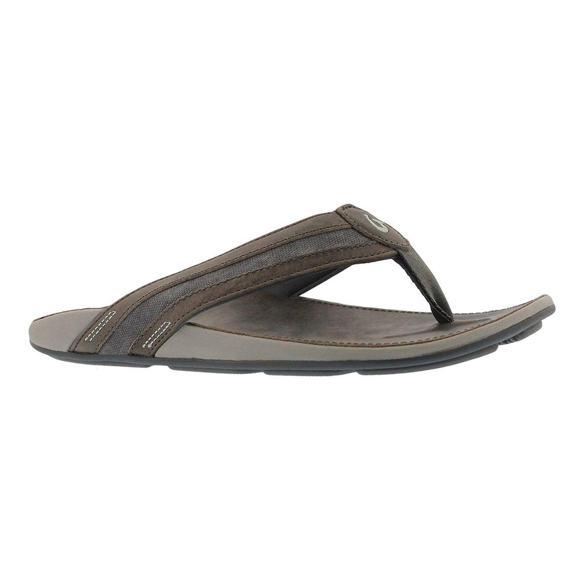 Men's IKOI charcoal thong sandals