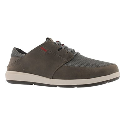 Mns Makia lace charcoal casual shoe