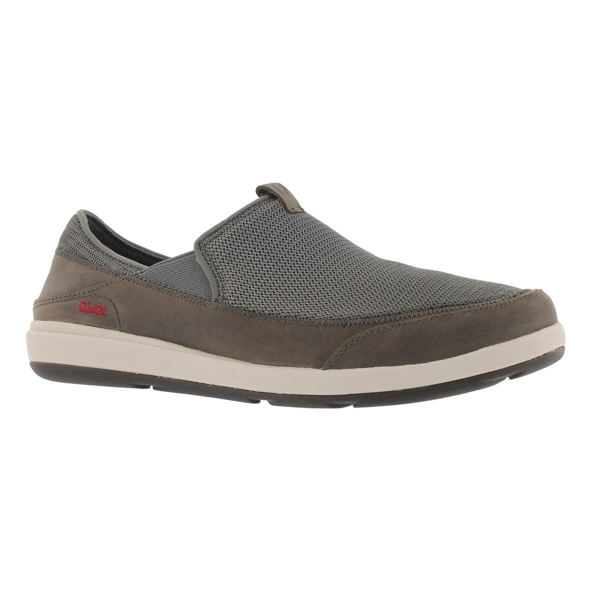 Mns Makia charcoal slip on casual shoe