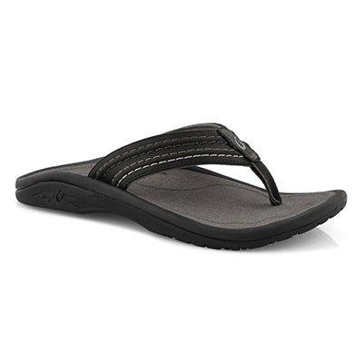 Mns Hokua Ale blk/char thong sandal