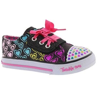 Infs Hopscotch blk/multi lightup sneaker