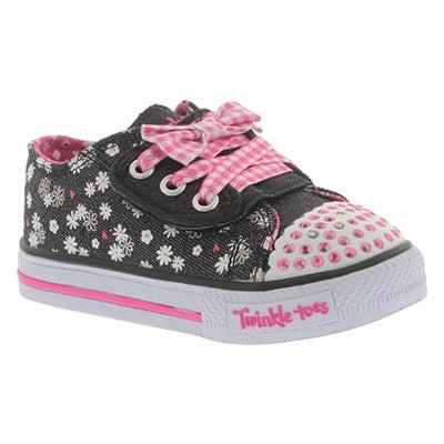 Inf Daisy Dot blk/hot pnk sneaker