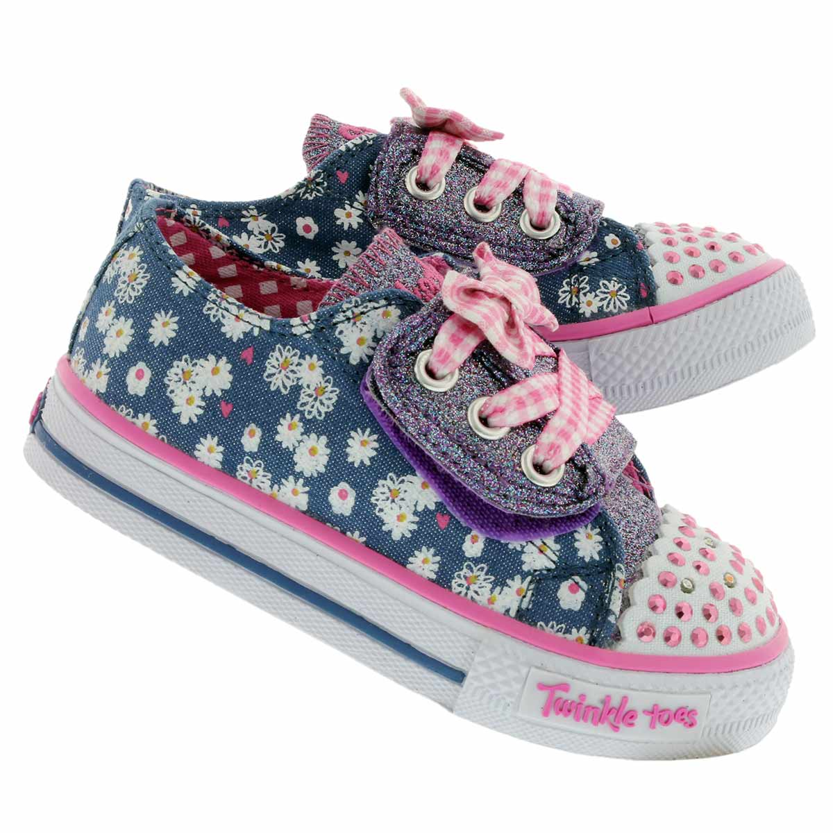 Infs Daisy Dot denim/multi sneaker