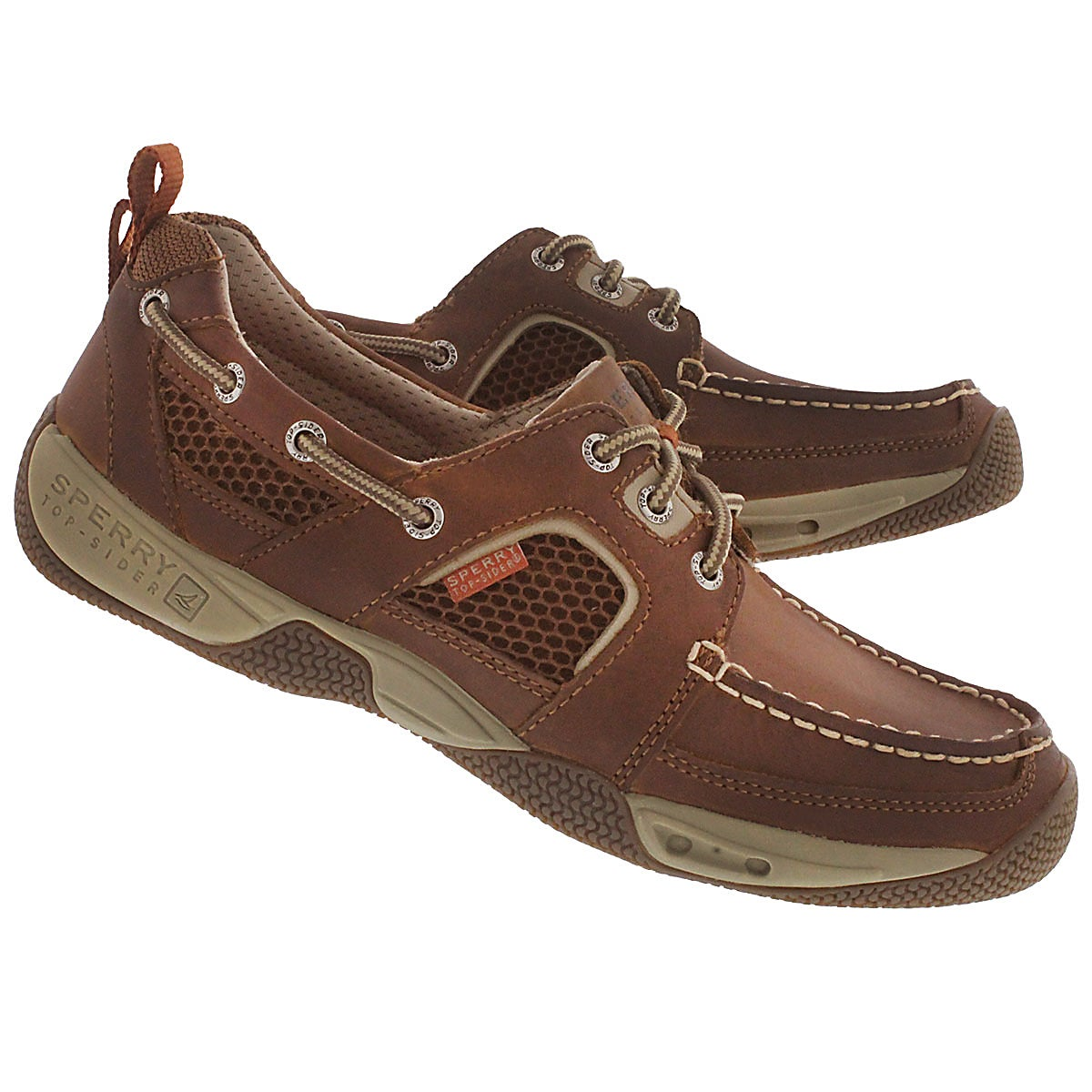Mocassin sport tan SEA-KITE, hom