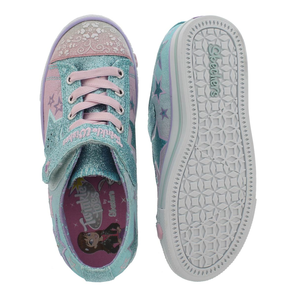 Grls Enchanter multi light up sneaker
