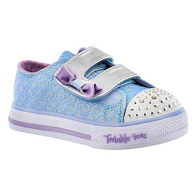 Skechers Infants' SHUFFLES blue/purple light up sneakers