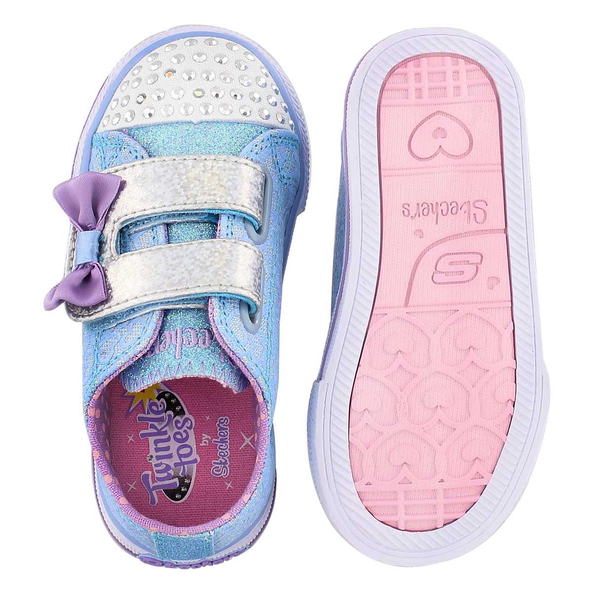 Inf Shuffles blu/ppl light up sneaker