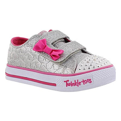 Skechers Infants' STARLIGHT STYLE silver/pink sneakers