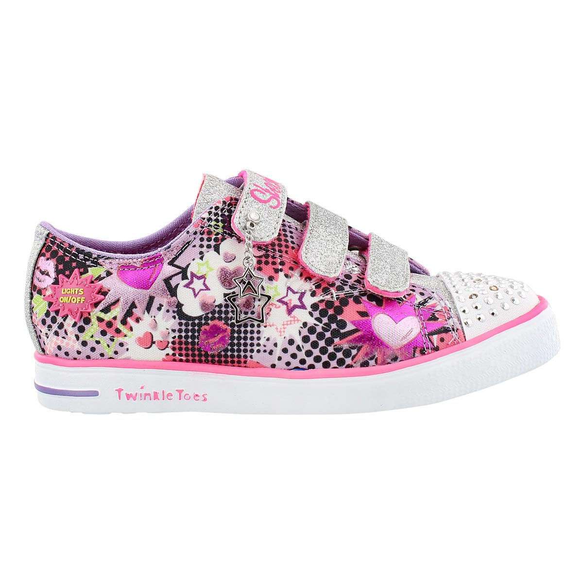 Grls Twinkle Breeze ppl/pk light up snkr