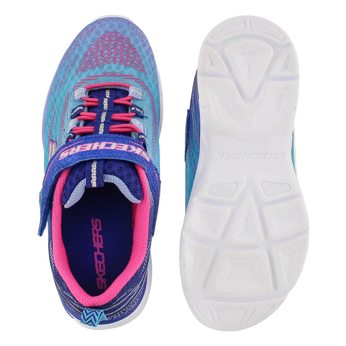 Grls Litebeams blu ombre lightup sneaker
