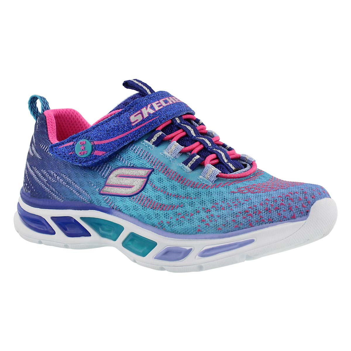 Girls' LITEBEAMS blue ombre lightup sneakers