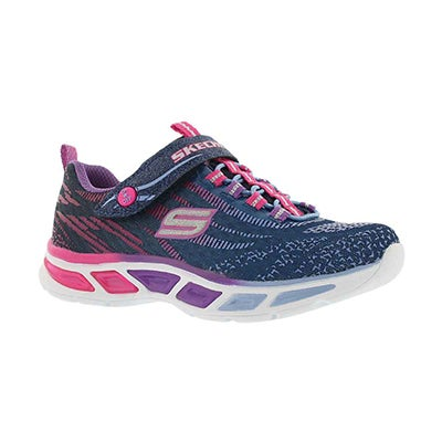 Skechers Grls' LITEBEAMS navy ombre light up sneakers