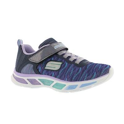 Grls Litebeams blu/ppl lightup sneaker