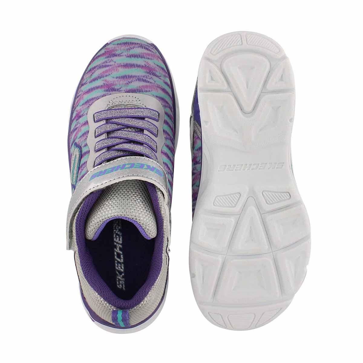 Grls Litebeams slv/ppl lightup sneaker