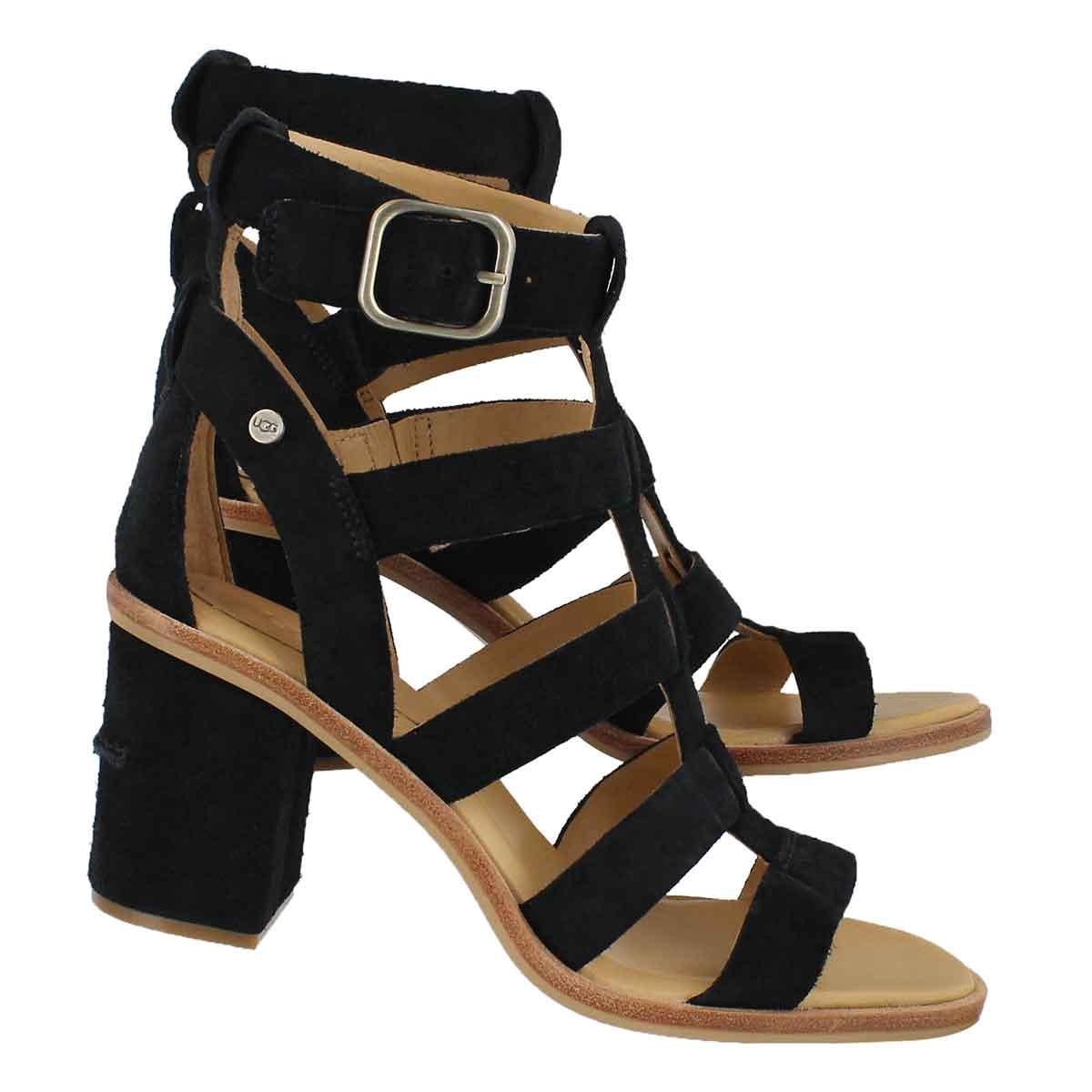 Lds Macayla black dress sandal
