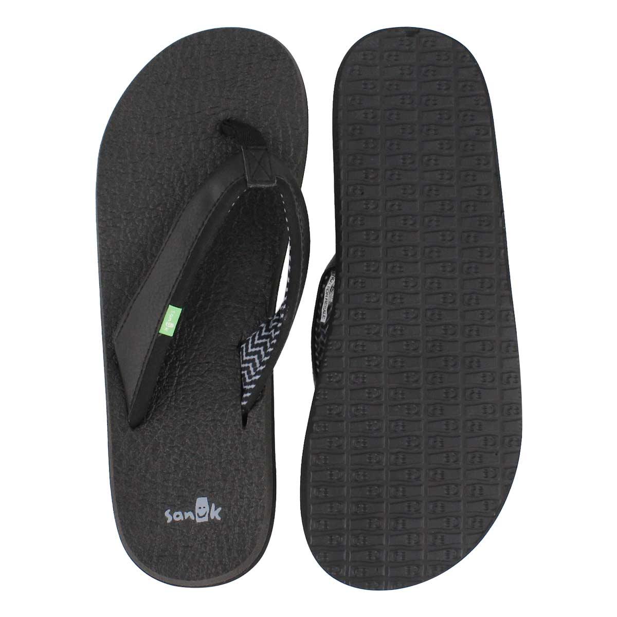 Sandale tong Yoga Mat 2, noir, femme