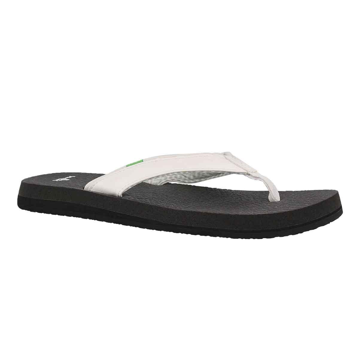 Women's YOGA MAT 2 white flip flops