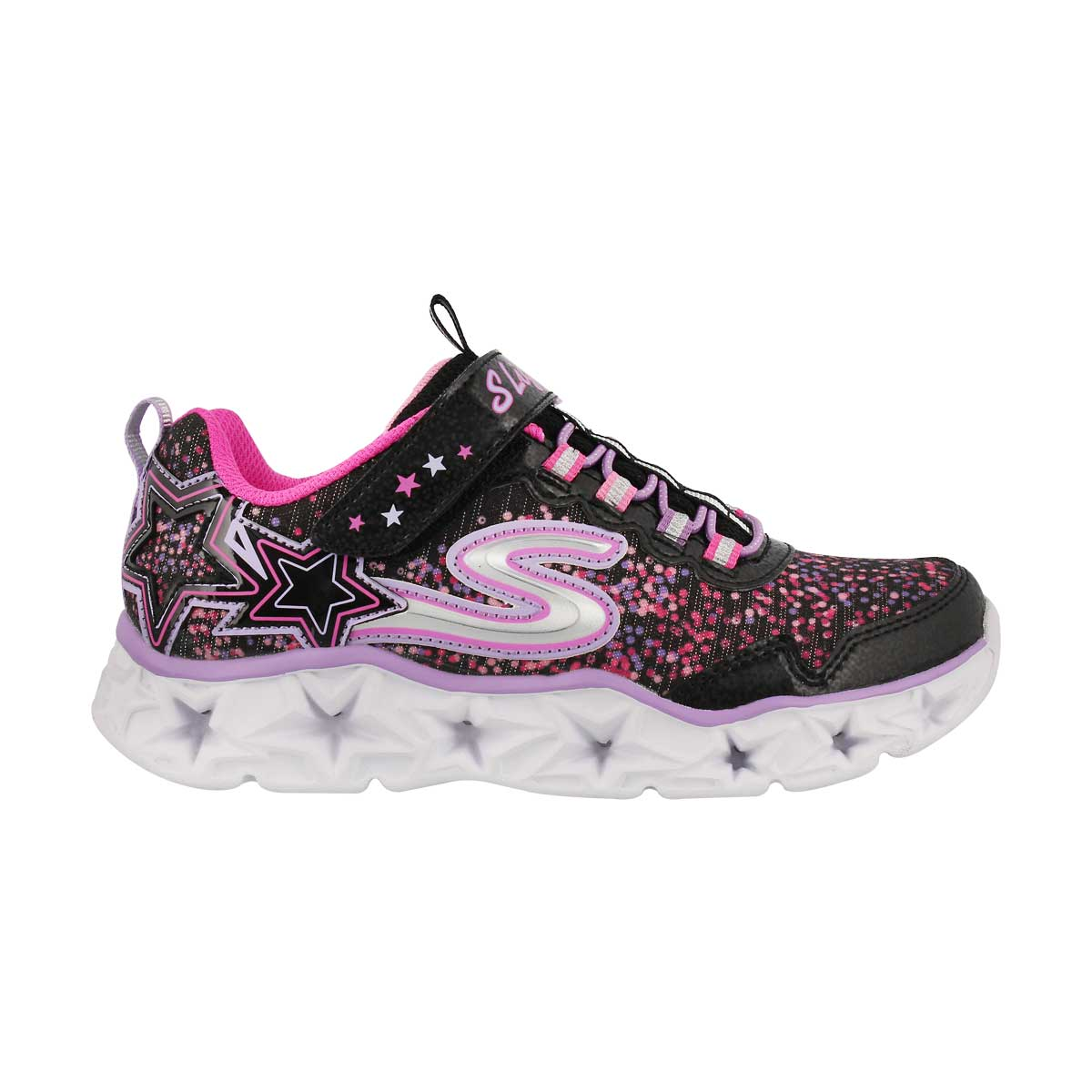 Grls Galaxy Lights blk/mlt light up snkr
