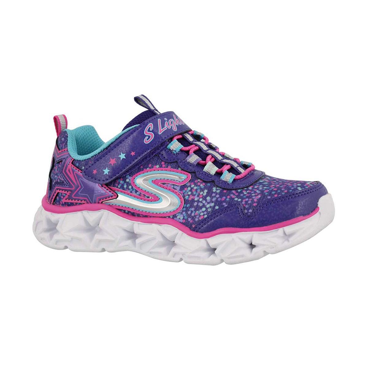 Girls' GALAXY LIGHTS purple/mult light up sneakers