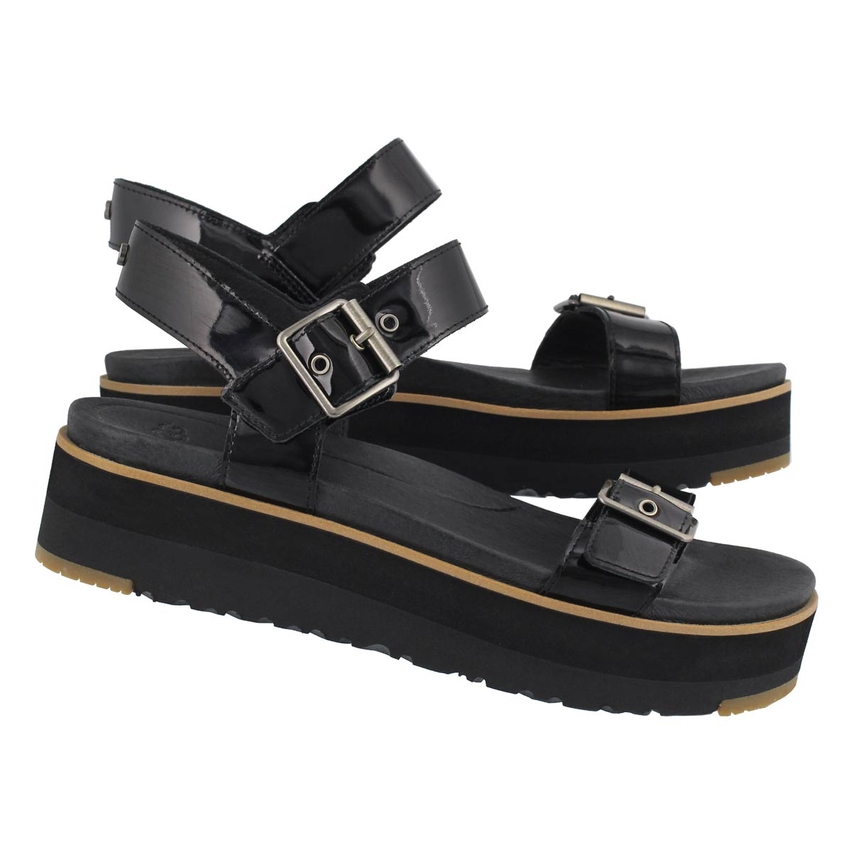 Lds Angie black casual platform sandal
