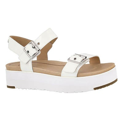 Lds Angie white casual platform sandal