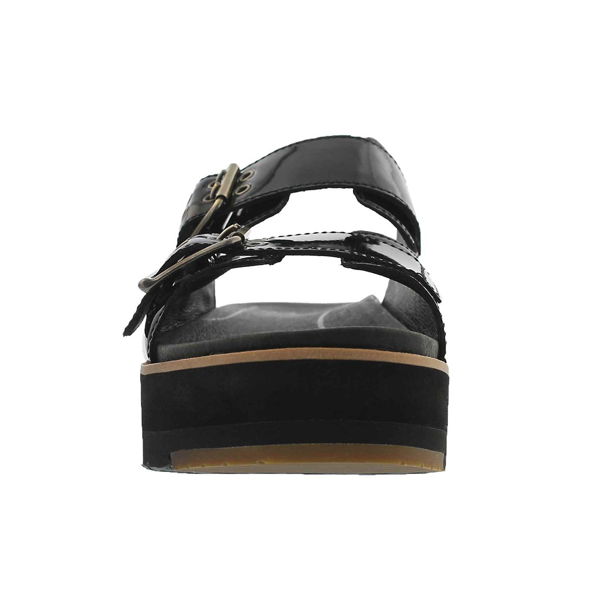 Lds Cammie blk casual slide sandal