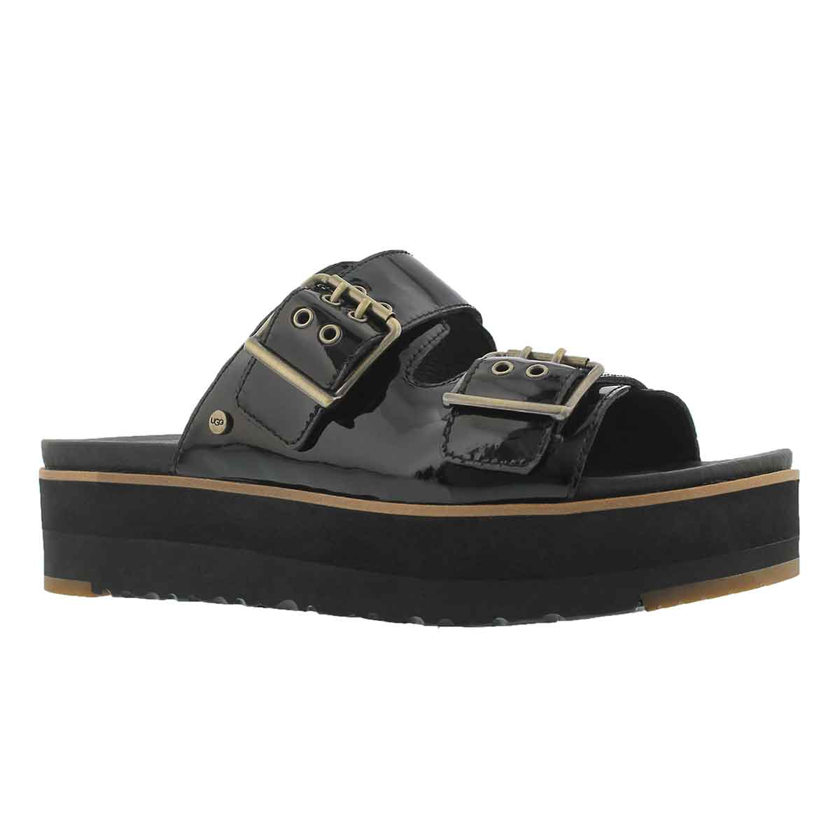 Women's CAMMIE black casual slide sandals