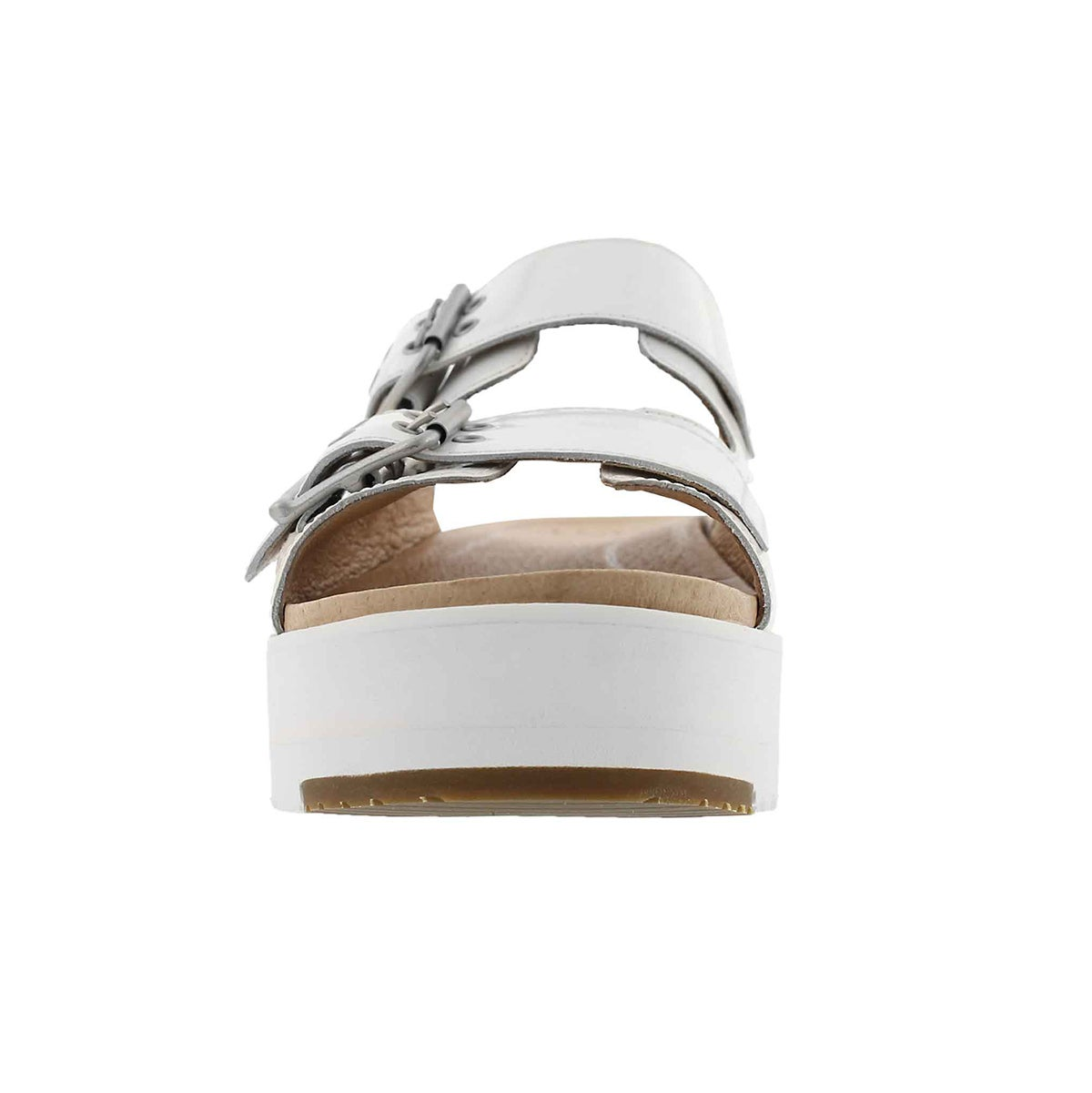 Lds Cammie wht casual slide sandal