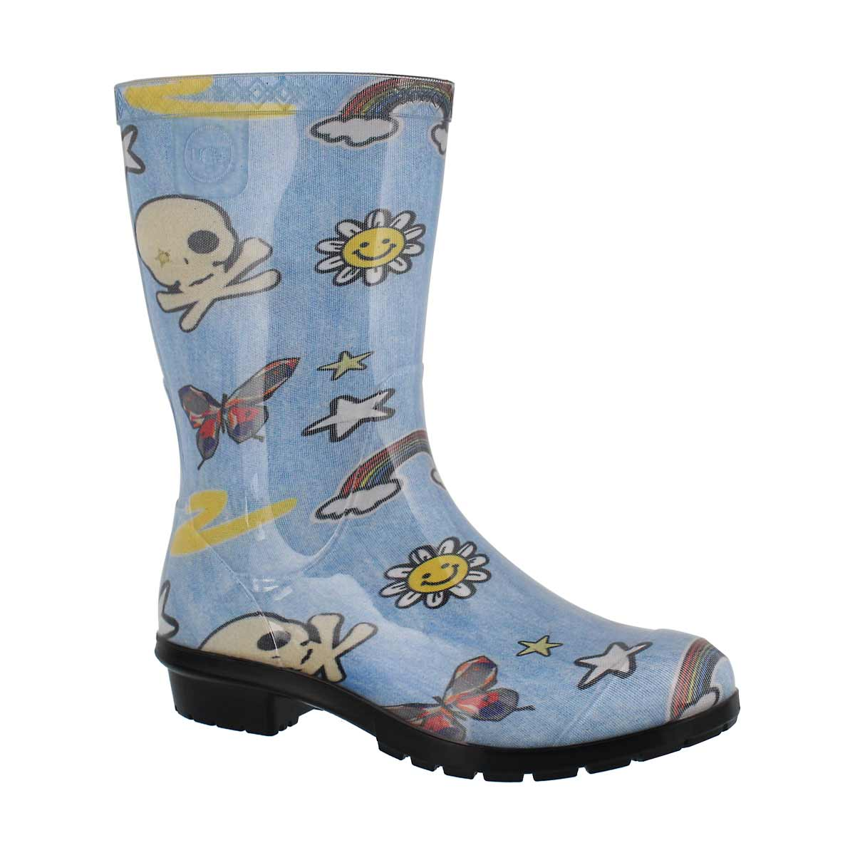 Kids' RAANA PATCHES denim multi wtpf rain boots