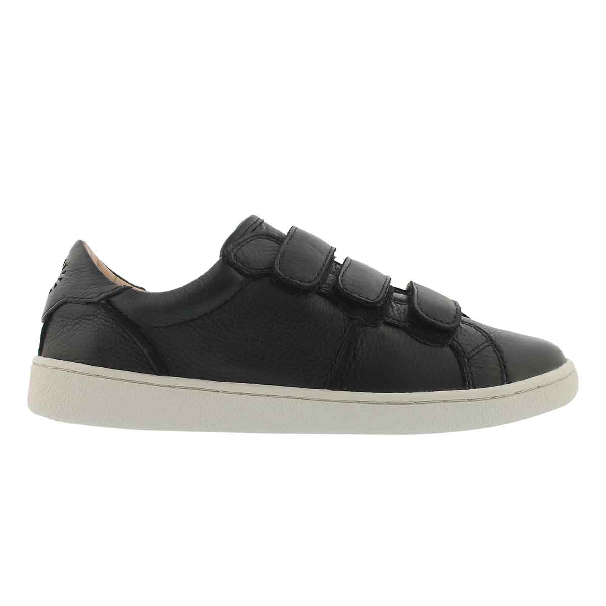 Lds Alix blk hook & loop casual sneaker