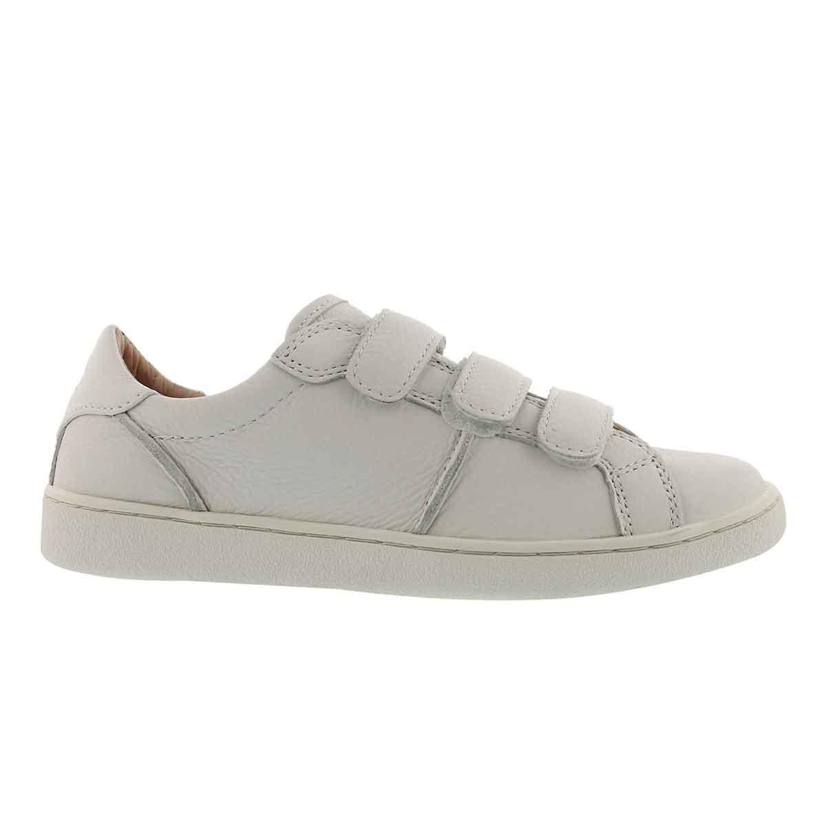 Lds Alix wht hook & loop casual sneaker