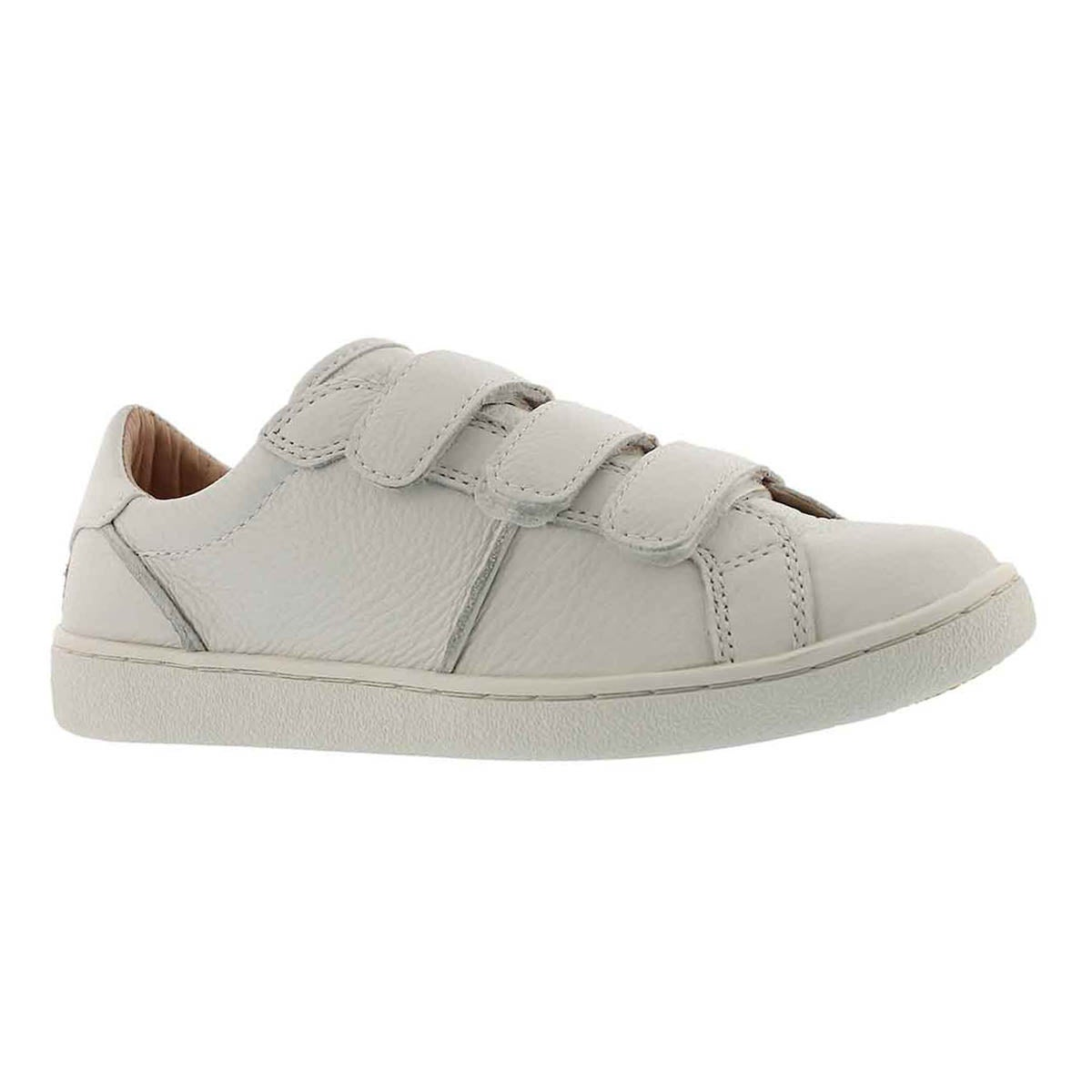 Women's ALIX white hook & loop casual sneaker