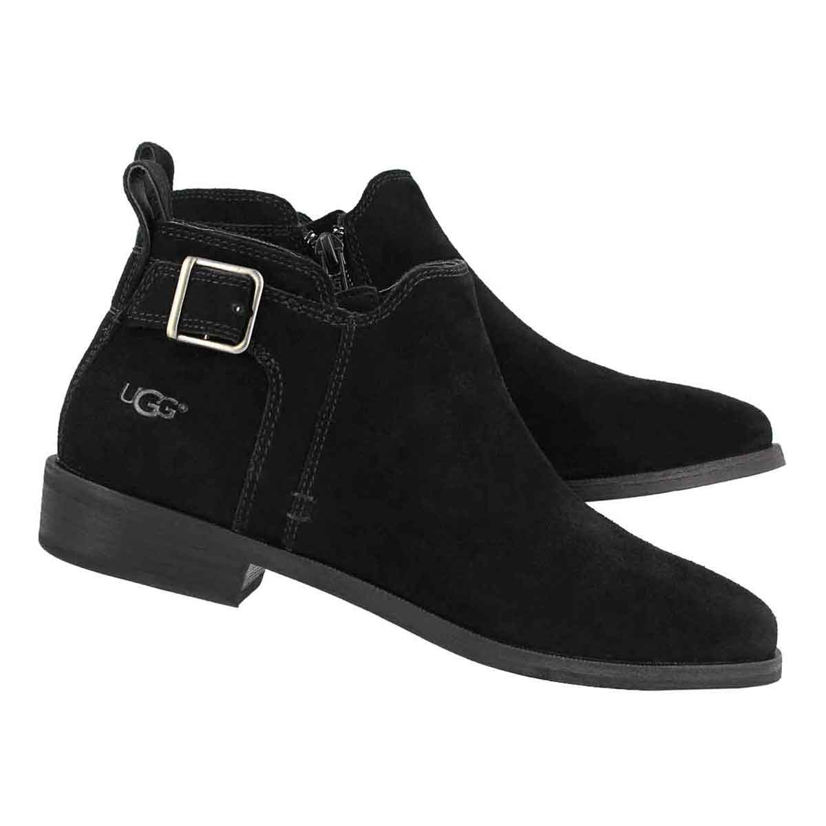 Lds Kelsea blk slip on casual bootie