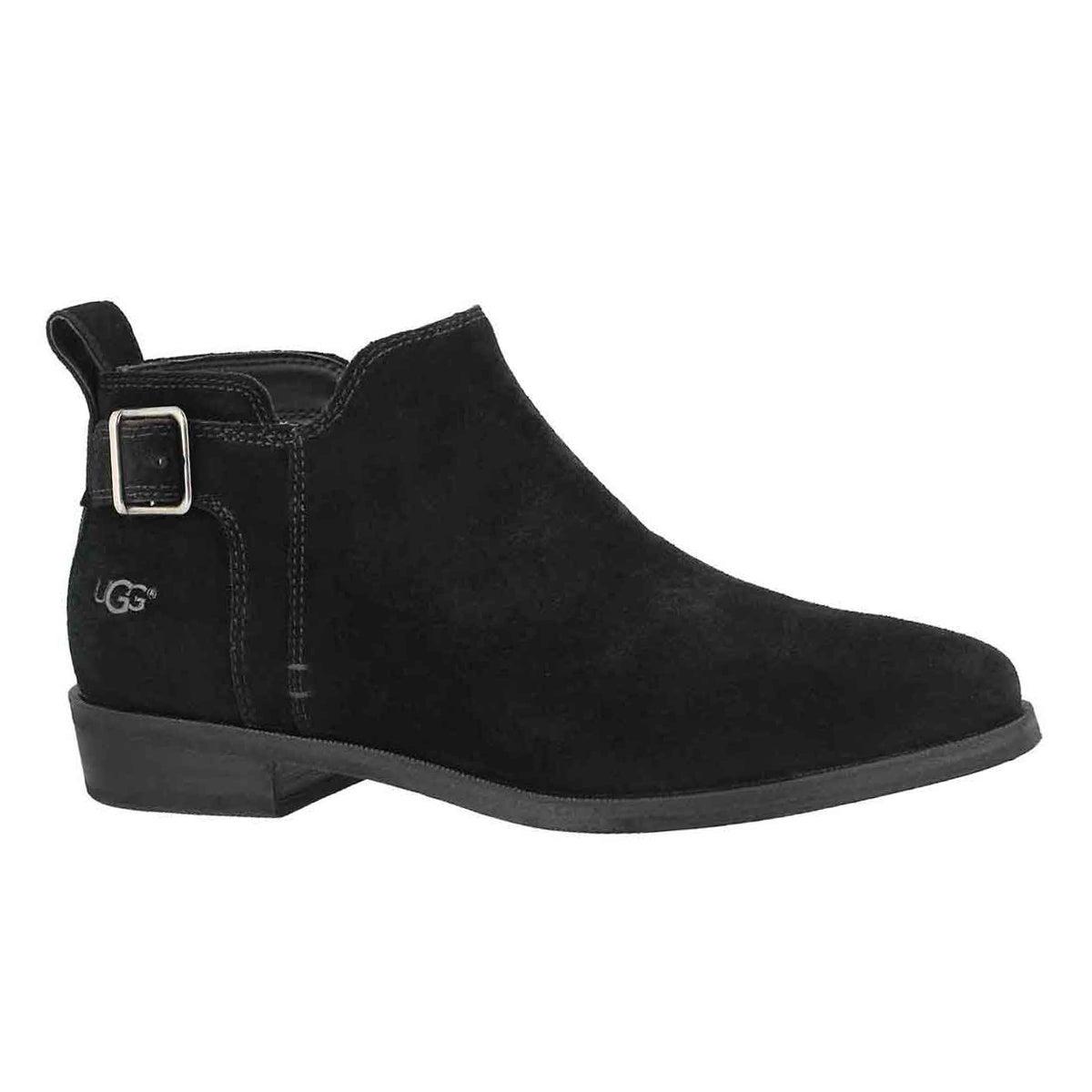 Women's KELSEA black slip on casual booties