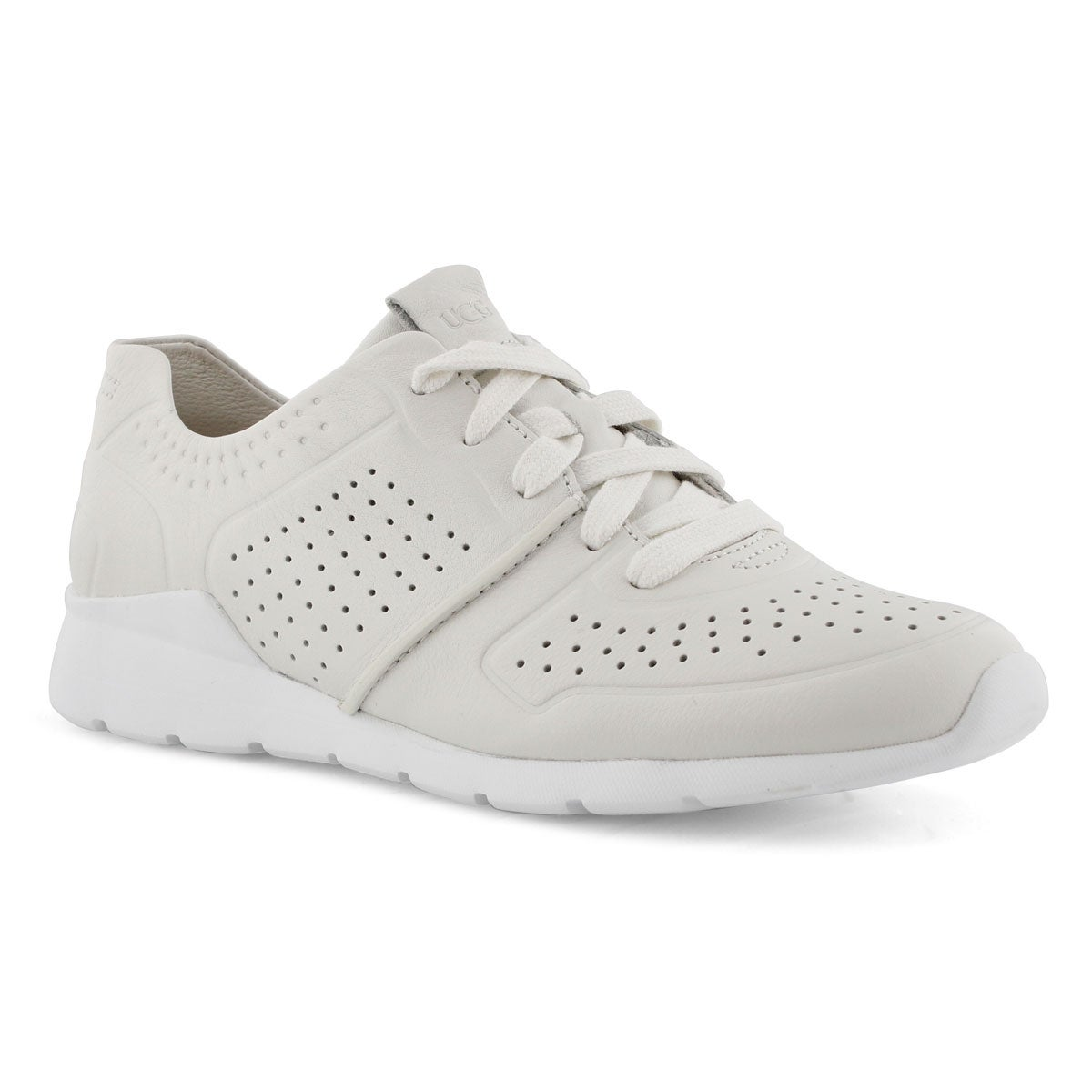 Lds Tye white lace up casual sneaker