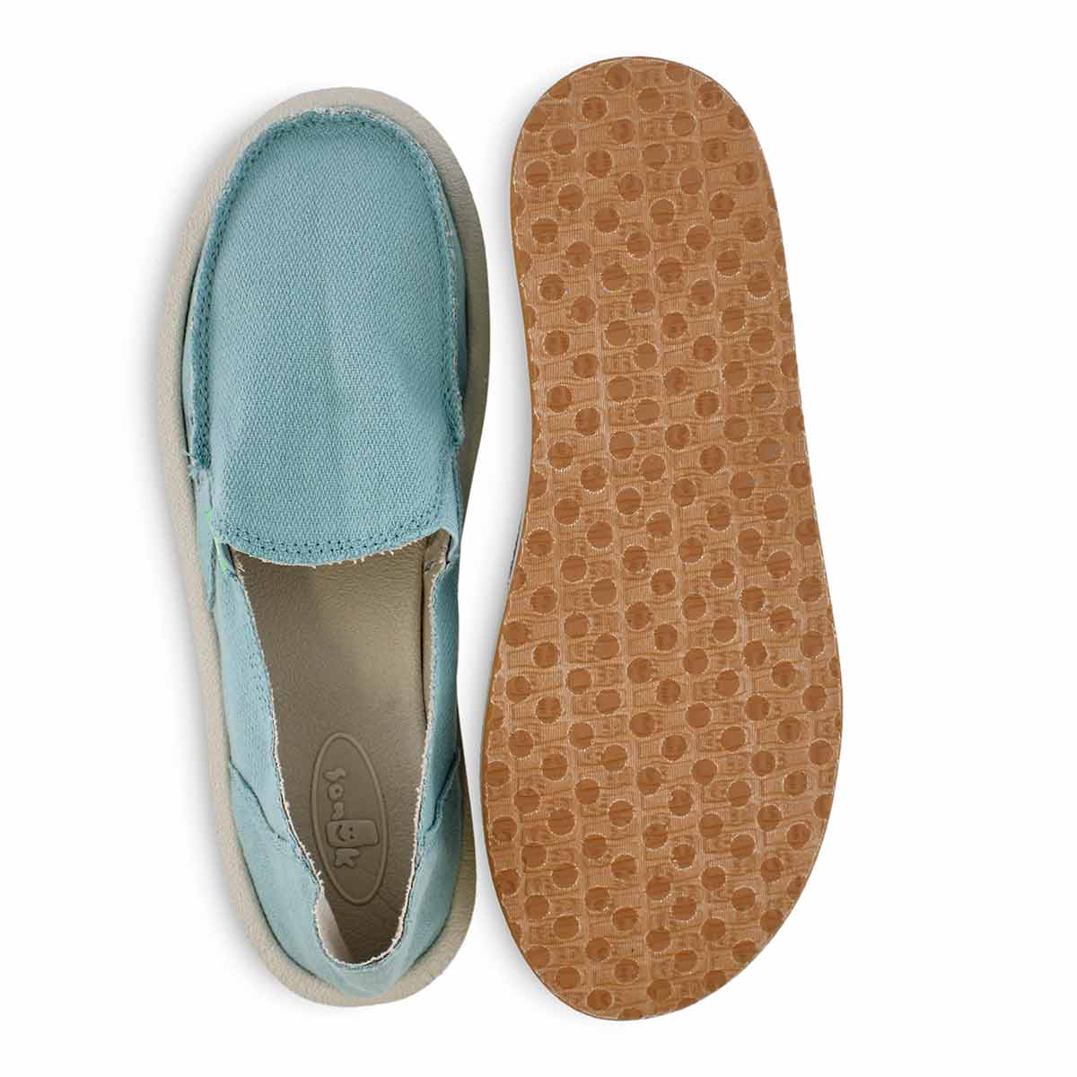 Lds Donna Hemp mineral blue slip on shoe