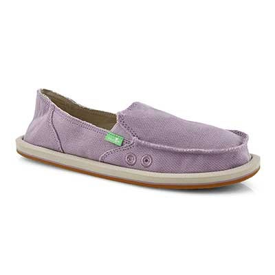 Lds Donna Hemp sea fog slip on shoe