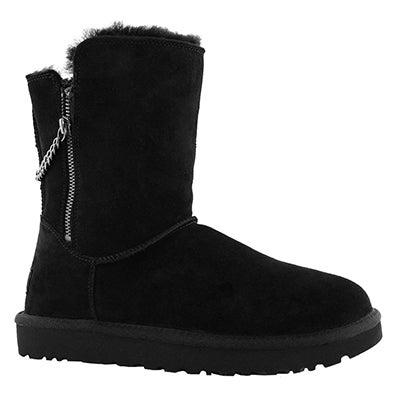 Lds Classic Short Sparkle Zip black boot