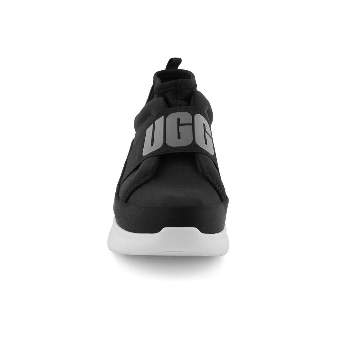 Lds Neutra blk/wht slip on sneaker