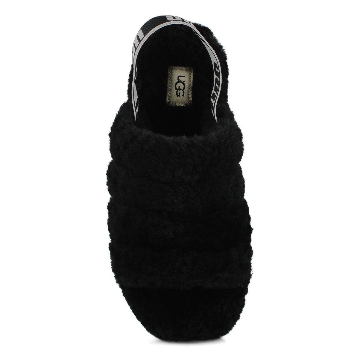 0061e5205f7 Women's FLUFF YEAH black sheepskin slippers