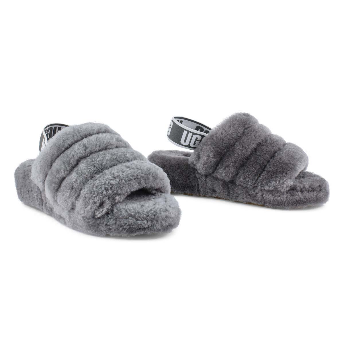 Lds Fluff Yeah char sheepskin slipper
