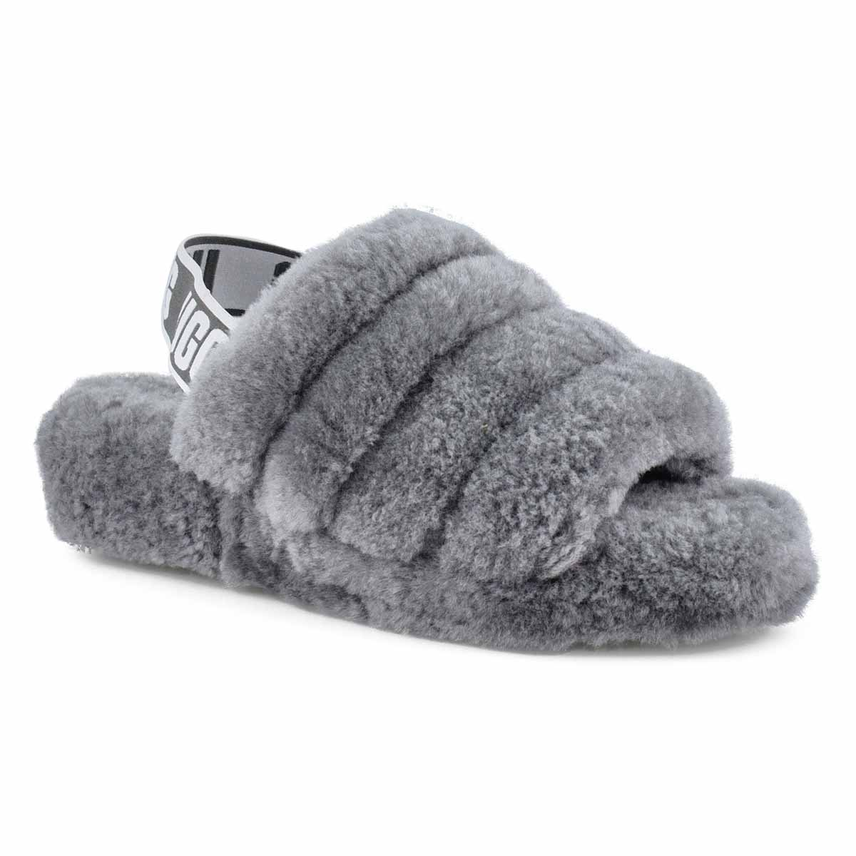 53ca46e4e4c Women's FLUFF YEAH charcoal sheepskin slippers