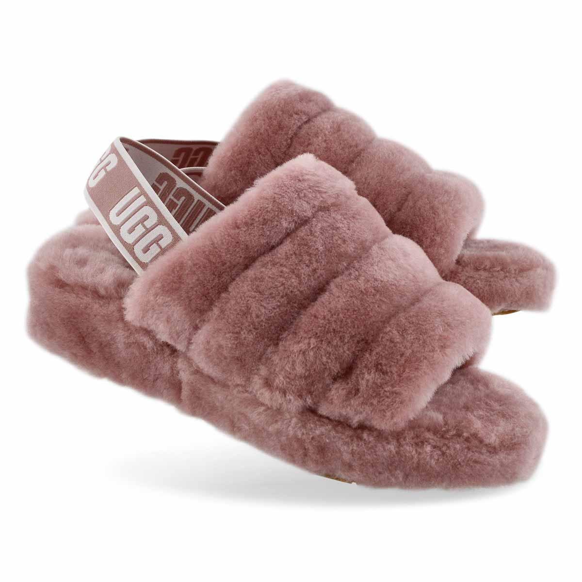 221b3a3e242 Women's FLUFF YEAH pink sheepskin slippers