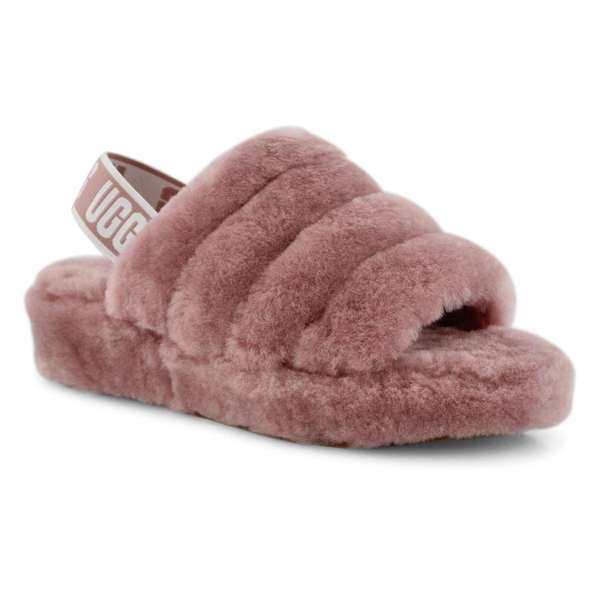 162bc062f48 Women's FLUFF YEAH pink sheepskin slippers