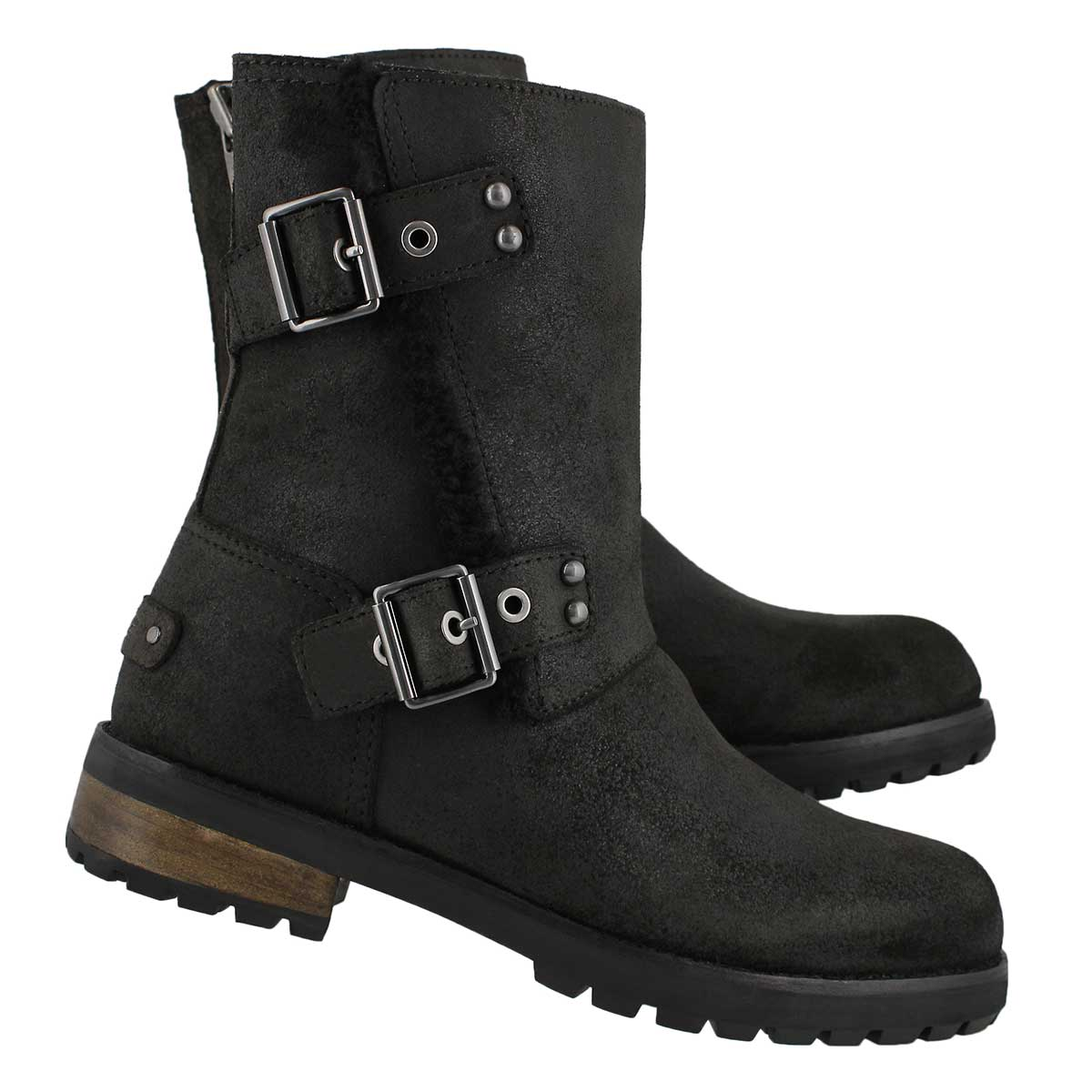 Lds Niels II black zip up ankle boot